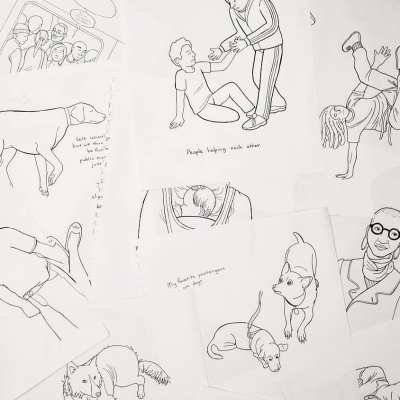 pile of drawings 02